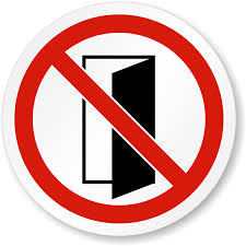 do not close open door symbol iso prohibition sign