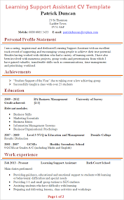 Learning Support Assistant Cv Example Tips And Download Cv Plaza