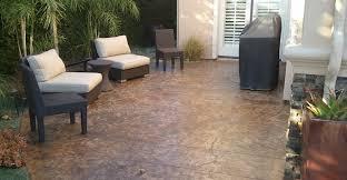 brown textured concrete patio concrete patios stained concrete originals los angeles ca