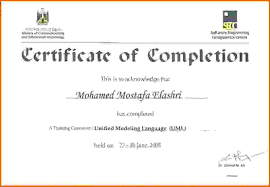 Certificate Of On The Job Training Completion Great Sample