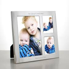 baby collage frame personalised silver collage frame