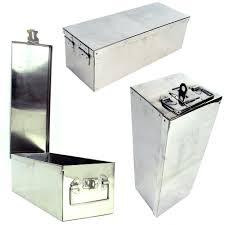 metal storage box with lid. amazon.com: stalwart 75-005 metal storage lock box, 12\ box with lid a