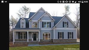 Light Blue Houses With White Trim Light Blue Siding White Trim Black Shutters Gray Brick