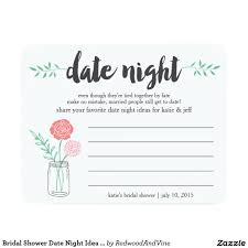 date night invitation template bridal shower date night idea card mason jar bridal showers