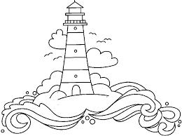 Small Picture Printable Lighthouse Coloring Pages Coloring Me