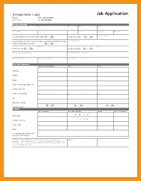 Generic Blank Job Application Blank Job Application Form Template Uk Sample Unemployment Appeal