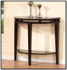 round entry table half moon glass table black round entry table round foyer table modern wood