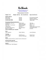 ... Modeling Resume 14 Modeling Resume Template Model Templates Example  Terrific 1 Sample ...