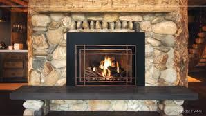 Arch Makeover │ Masonry Fireplace Door  Design SpecialtiesBlack Fireplace Doors