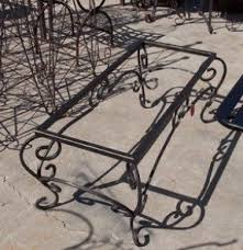 Wrought iron coffee table base 3