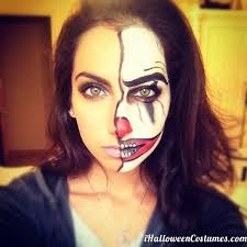 makeup half face makeup half face joker makeup costumes 2016
