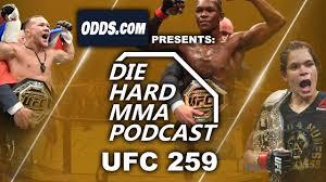 UFC 259 Odds   Blachowicz vs Adesanya Pick   Diehard MMA Podcast - YouTube