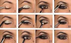 black and silver smokey eye makeup tutorial
