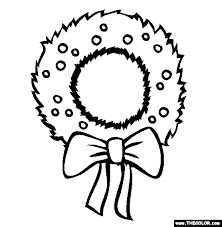 Wreath christmas online coloring pages page 1 on christmas coloring games online