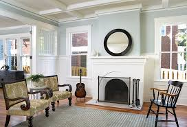 decorating with paint living room traditional painted brick um tone wood buffets and sideboards