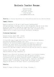 Resume Teacher Assistant Sample Objective Skills Job For