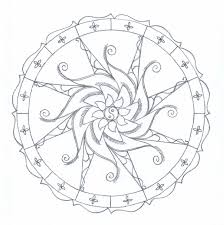 Simple Mandala Coloring Pages Printable Printable Coloring Page