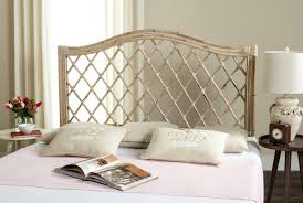 rattan lattice headboard - Wicker Headboard for Stylish Bed   Desantislandscaping.Com