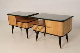 mid century modern bedside table. Bedroom Furniture Oak Built In Desk Cherry Wood Large Mid Century Modern Nightstand Tropical Brown High Comforter Rolling Lamp Bedside Table G