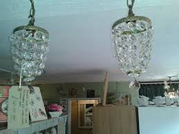 pair of small 1920s bag chandeliers antique