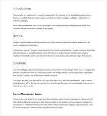 Download Website Proposal Template Word Bonsai