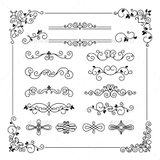 vintage frame border. Vintage Frame Border Divider And Corner - Borders Decorative E