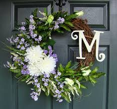 front door monogramWreaths by HomeHearthGardenEtsyCom Casual Country Monogram