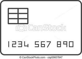 Outline Icon Credit Card Credit Card Icon In Thin Outline Style