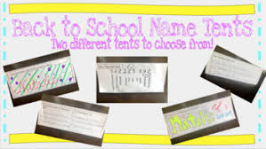 name tent name tents teaching resources teachers pay teachers