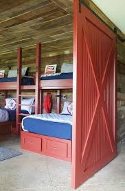 barn door furniture bunk beds. Barn Door Bunk Beds Amazing 3 Hallway To Kids Room Features Reclaimed Wood Plank Walls Fitted With A Red On Rails Opening Furniture