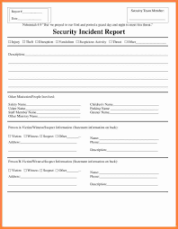018 Security Incident Report Form Template Word Ideas