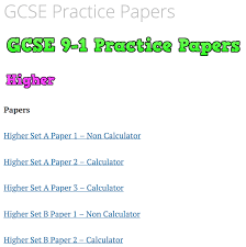 Papers Paper Gcse Practice Papers Corbettmaths
