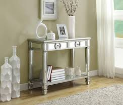 Mirror Furniture Amazoncom Monarch Specialties Length Sofa Console Table With 2