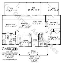Country Cottage House Plan   House Plans by Garrell Associates  Inc country cottage house plan   st floor plan