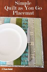 Simple Quilt as You Go Placemat Tutorial - Fairfield World Blog & Simple Quilt as you Go Placemat Tutorial Adamdwight.com