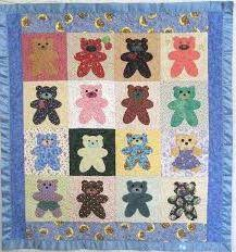 One-Block Quilt (exceptional Bear Quilt Patterns Applique #5 ... & Here is a quilt that Threadheads made using this technique: (beautiful bear  quilt patterns ... Adamdwight.com