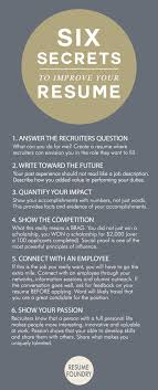 six amazing secrets to improve your resume resume tips six amazing secrets to improve your resume