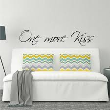 Love Wall Decor Bedroom Above Bed Wall Decal One More Kiss L Over Bed Sticker Design