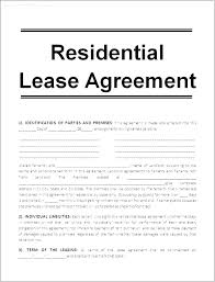 Residential Lease Contract Rental Lease Agreement Template