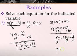 solving equations of more than one variable you