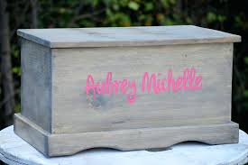 personalized wooden toy chest kids box canada