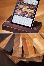 solid wood ipad stands tablet holders