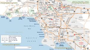 los angeles map  los angeles city centre neighborhoods free