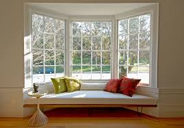 bay-window -curtain-ideas-Living-Room-Midcentury-with-accent-table-Asian-baseboard-bay- window-Felted