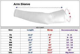 Mcdavid Compression Arm Sleeve Sizing Chart Details About Titanium Sports Compression Baseball Dri Fit Arm Sleeve Blue Lightning