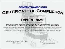 Free Forklift Certificate Template Forklift Certification Training Video Lovely Certificate