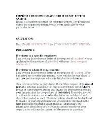 How To Write A General Letter Of Recommendation General Letter Of Recommendation Template Reference Sample