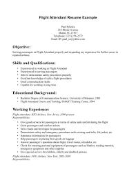 Resume Flight Attendant Sample Resume