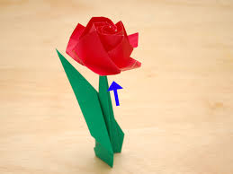 Paper Origami Flower Making How To Fold A Paper Rose With Pictures Wikihow