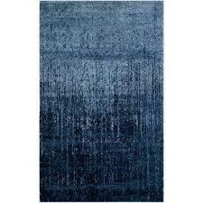 retro light blue blue 8 ft x 10 ft area rug